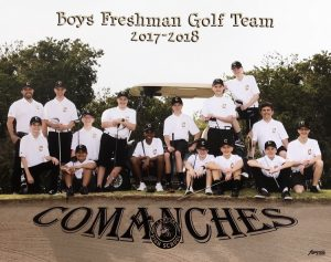 Boys Frosh Soph Golf Team 2018