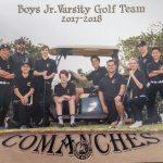 Boys Golf J.V. Team 2018