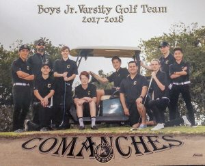 Boys Golf J.V. Team 2018