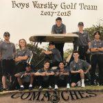Boys Varsity Golf Team 2018