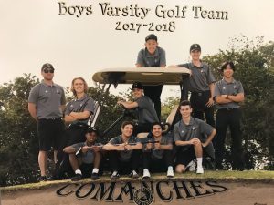 Boys Varsity Golf Team 2018