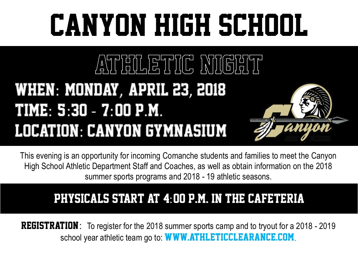 Athletic Night Information