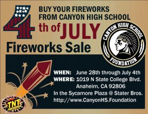 Golf Fireworks Fundraiser Flyer
