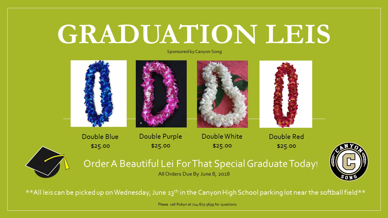 Purchase Your Graduation Leis Today!