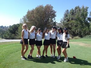 CHS Girls Varsity Golf vs Orange Lutheran HS at AHGC on Sept 6