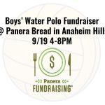 Boys' Water Polo Fundraiser at Panera Bread 9/19