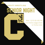 Wrestling Senior Night is December 19