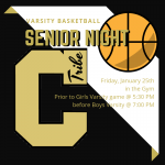 Varsity Basketball Senior Night 1/25