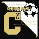 Girls Soccer Senior Night This Wednesday