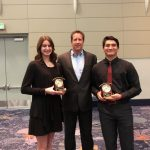 Canyon O.C.A.D.A Athlete with Character Recipients Moe Bradley and Lea Kitsigianis