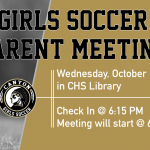 Girls Soccer Parent Meeting 10/16