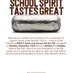Canyon Cheer fundraiser at Chipotle Monday, Sept. 23rd