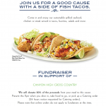 Cross Country Fundraiser at Rubio's Wednesday, Sept. 25