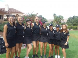 Canyon Varsity Girls Golf vs. Villa Park at GRGC on Sept 25