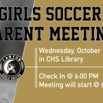 Girls Soccer Parent Meeting 10/23