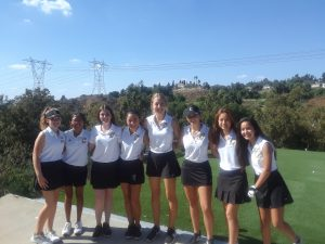 Canyon Varsity Girls Golf vs. Yorba Linda at AHGC on Oct. 1