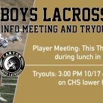 Boys Lacrosse Info Meeting and Tryouts