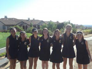 Canyon Varsity Girls Golf vs. El Dorado High School at Black Gold Golf Course on Oct. 7, 2019