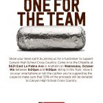 Cross Country Fundraiser at Chipotle 10/9