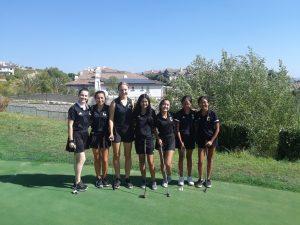 Canyon Varsity Girls Golf vs. Yorba Linda High School at Black Gold Golf Course on Oct. 9, 2019