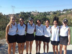 Canyon Varsity Girls Golf vs. Esperanza High School at Anaheim Hills Golf Course on Oct. 15, 2019
