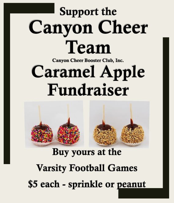 Canyon Cheer Carmel Apple Fundraiser