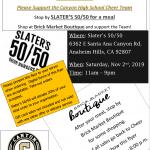 Cheer Team Fundraiser at Slater's 50/50