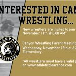 Interested in Canyon Wrestling?