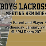 Boys Lacrosse Parent Meeting January 29th