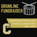 Drumline Fundraiser at Rubio's Wednesday, February 5th
