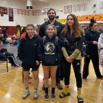 Girls Wrestling Places at League Finals