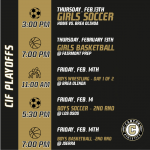 CIF Playoff Schedule for week of February 10th