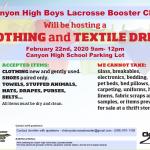 Boys Lacrosse fundraiser this Saturday 2/22