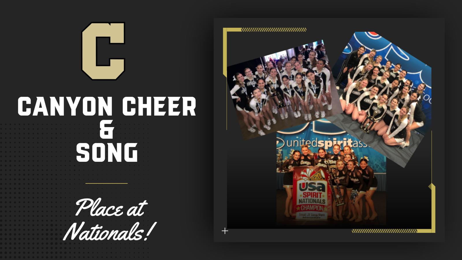 Cheer and Song teams place at Nationals!