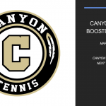 Tennis Booster Meeting March 2nd at 7 PM