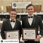 Canyon football players honored by National Football Foundation