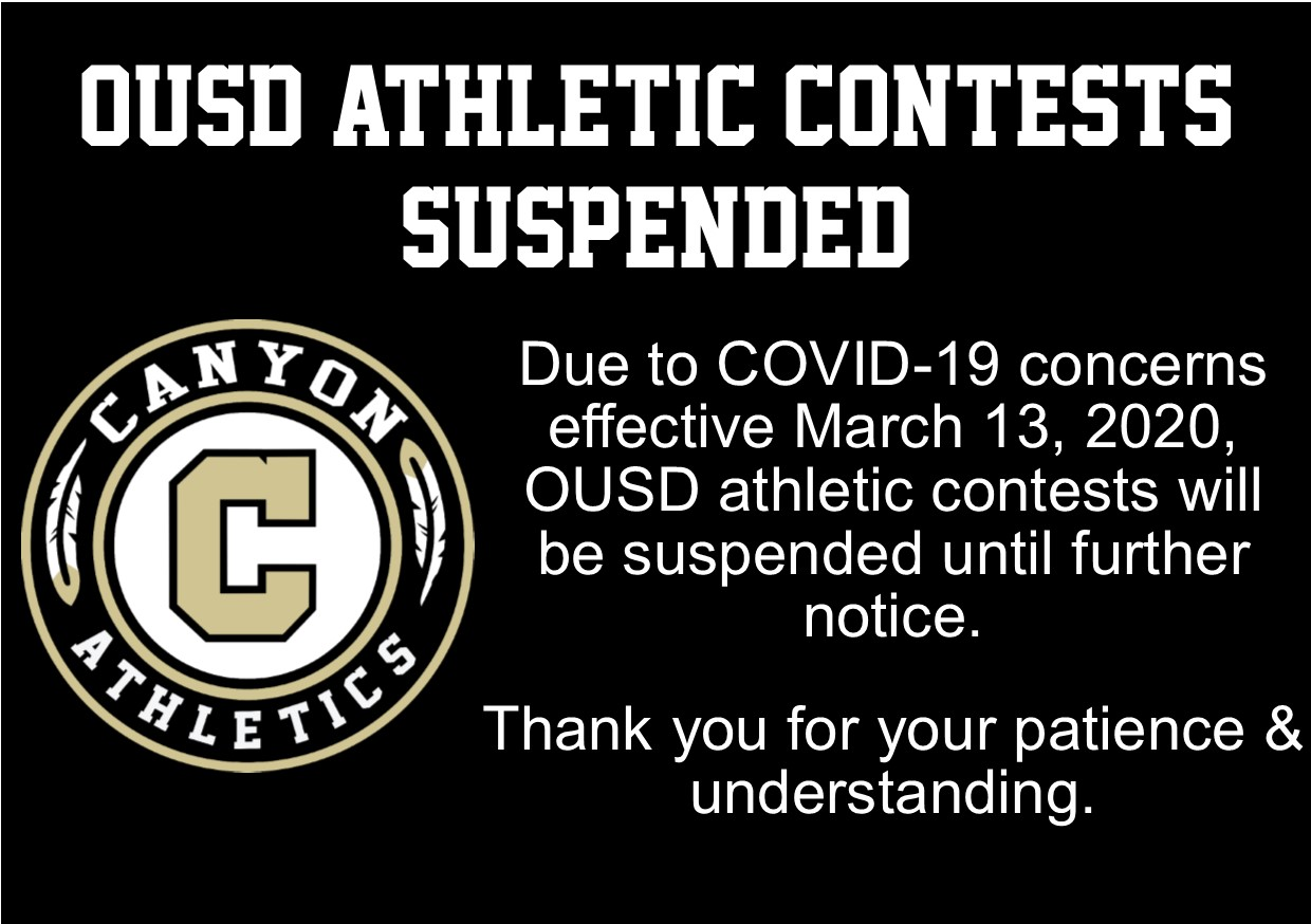 OUSD Athletic Contests Suspended Until Further Notice