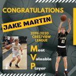 Jake Martin named Crestview League MVP for 2019-2020 season