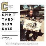 Reminder: Spirit yard sign sales end on Monday, May 25