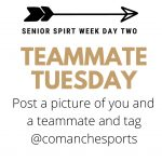 Senior Spirit Week – Teammate Tuesday