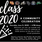 Class of 2020 Community Celebration June 11 at 6 PM