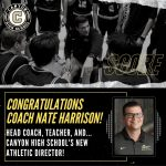 Coach Nate Harrison Joins Mrs. Ashley Higuera as Canyon Athletic Director