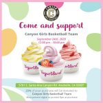 Girls Basketball Yogurtland Fundraiser September 24th