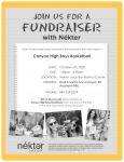 Boys Basketball fundraiser at Nektar today – October 6