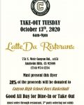 Boys Basketball fundraiser at Latte Da October 13