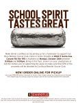 Boys Soccer Fundraiser at Chipotle Tonight Monday, October 26