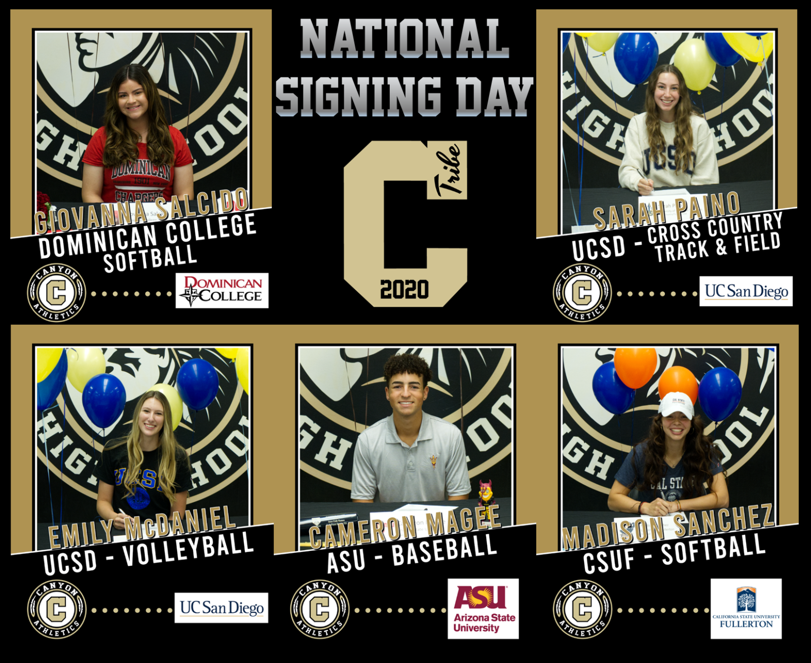 National Letter of Intent Signing Day – November 11, 2020