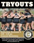 Girls Lacrosse Tryouts Wednesday, December 2 3-4:30PM