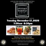 Boys Basketball Takeout Tuesday at Corner Bakery November 17