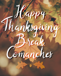 Thanksgiving Break November 23 – 27